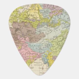 Volkerkarte von Asien - Map of Asia Guitar Pick