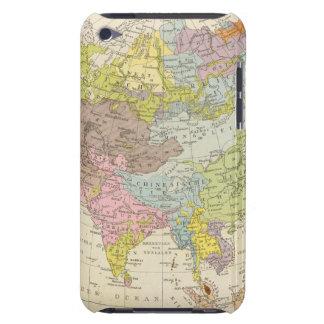 Volkerkarte von Asien - Map of Asia iPod Case-Mate Case
