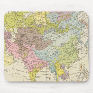 Volkerkarte von Asien - Map of Asia Mouse Pad