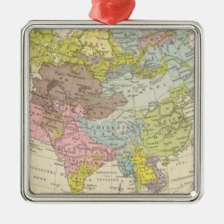 Volkerkarte von Asien - Map of Asia Christmas Tree Ornaments