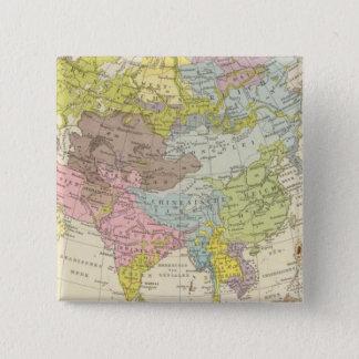 Volkerkarte von Asien - Map of Asia Pinback Button