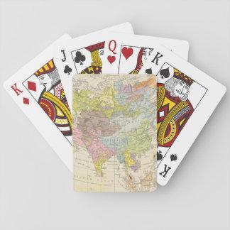 Volkerkarte von Asien - Map of Asia Playing Cards