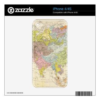 Volkerkarte von Asien - Map of Asia Skins For iPhone 4