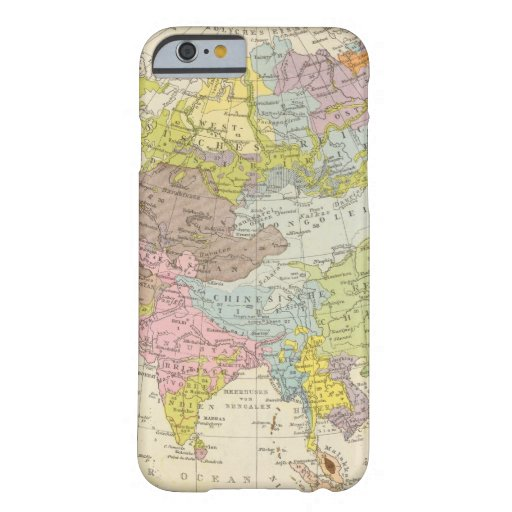 Volkerkarte von Asien - mapa de Asia Funda De iPhone 6 Barely There