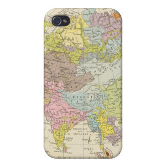 Volkerkarte von Asien - mapa de Asia iPhone 4 Fundas