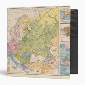 Volkerkarte von Europa, Map of Europe 3 Ring Binder