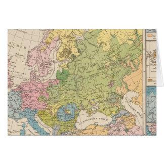 Volkerkarte von Europa, Map of Europe Greeting Card