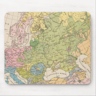 Volkerkarte von Europa, Map of Europe Mouse Pad