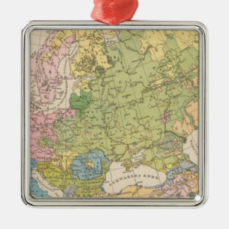 Volkerkarte von Europa, Map of Europe Christmas Ornaments