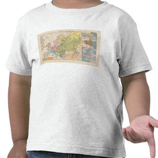 Volkerkarte von Europa, Map of Europe Tshirt