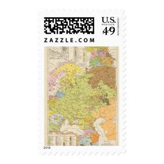 Volkerkarte von Russland - Map of Russia Postage
