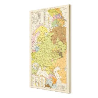 Volkerkarte von Russland - mapa de Rusia Impresion En Lona