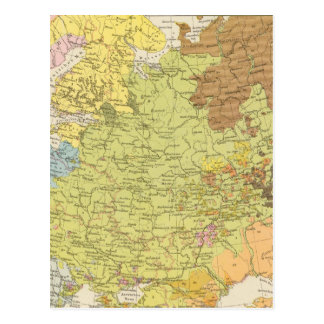 Volkerkarte von Russland - mapa de Rusia Postal