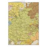 Volkerkarte von Russland - mapa de Rusia Tarjeton