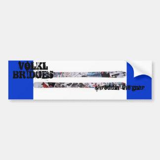 VOLKL BRIDGES BUMPER STICKER