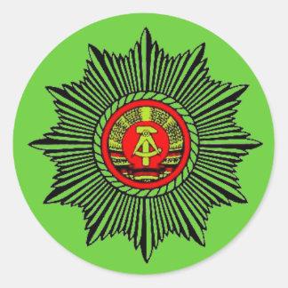 Volkspolizei Classic Round Sticker