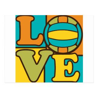 Volleball Love Postcard