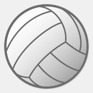 Volley Ball Classic Round Sticker