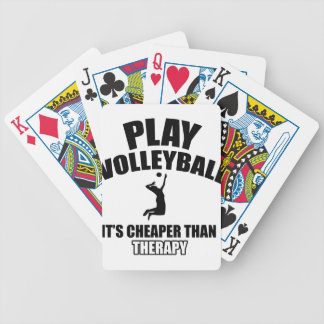 Volley ball designs card decks