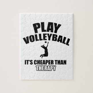 Volley ball designs jigsaw puzzle