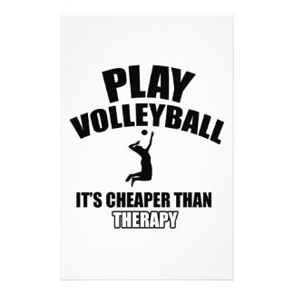 Volley ball designs stationery design
