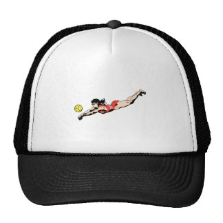 volley ball dive female volleyball player trucker hat