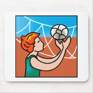Volley Ball girl Mouse Pad