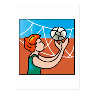 Volley Ball girl Postcard