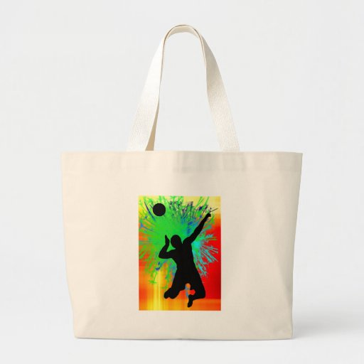 Volley Ball Service Fireworks Canvas Bags
