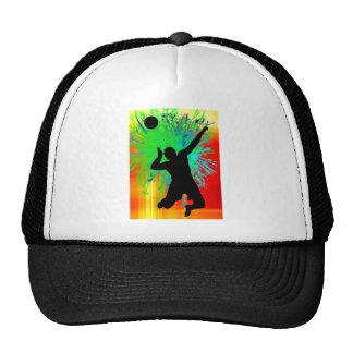 Volley Ball Service Fireworks Trucker Hat