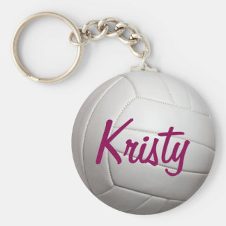 Volley Ball Volleyball Sports Name Keychain
