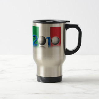 Volley ball world cup 2010 15 oz stainless steel travel mug