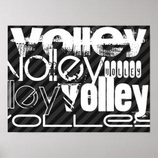 Volley; Black & Dark Gray Stripes Poster