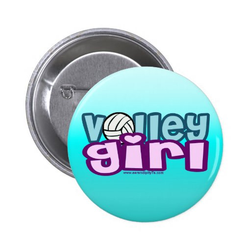 Volley Girl Pinback Buttons
