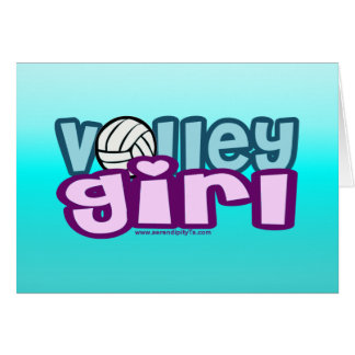 Volley Girl Card