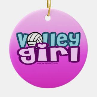 Volley Girl Ceramic Ornament