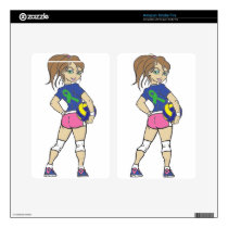 VOLLEY GIRL GREEN RIBBON SKIN FOR KINDLE FIRE