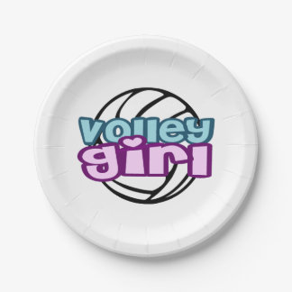 Volley Girl Paper Plate