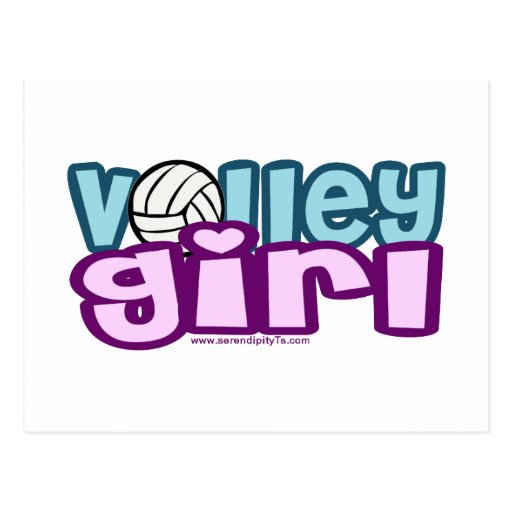 Volley Girl Post Card