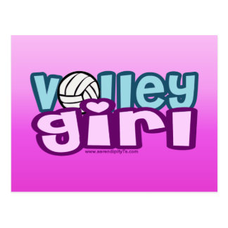 Volley Girl Postcard