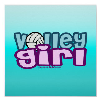 Volley Girl Print