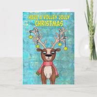 Volley Jolly Christmas Holiday Card
