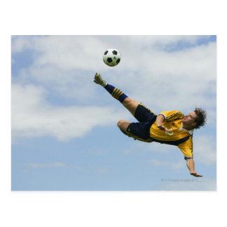Volley kick 2 postcard
