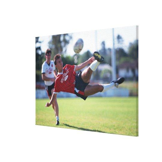 Volley kick canvas print