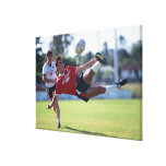 Volley kick gallery wrapped canvas