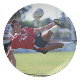 Volley kick melamine plate