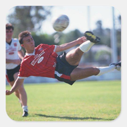 Volley kick square sticker