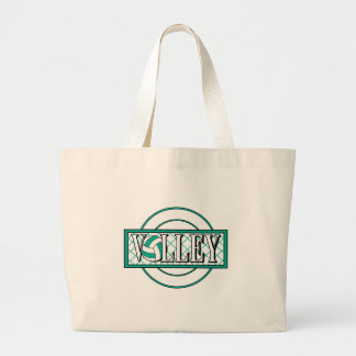 volley logo green large tote bag