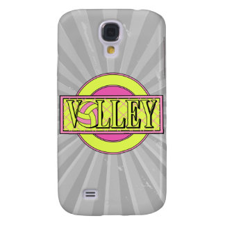 volley logo pink and yellow green samsung s4 case