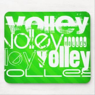 Volley; Neon Green Stripes Mouse Pad